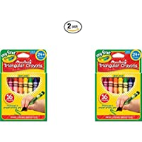 [クレヨラ]Crayola My First Triangular Crayons 16ct 81-1316 [並行輸入品]