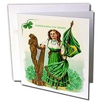 聖パトリックの日Sandy Mertens–EmblemsのErin (ヴィンテージ)–グリーティングカード Set of 12 Greeting Cards