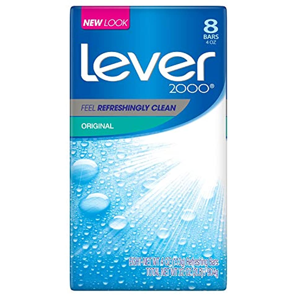 普及百万熟達したLever 2000 石鹸、オリジナル4オズ、8バー