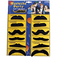 【la select】付け髭 つけひげ 12個セット 宴会 オシャレ小物