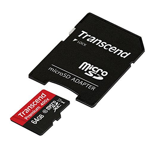 【Amazon.co.jp限定】Transcend microSDXCカード 64GB Class10 UHS-I対応 400× (無期限保証) TS64GUSDU1PE (FFP)をアマゾンで購入