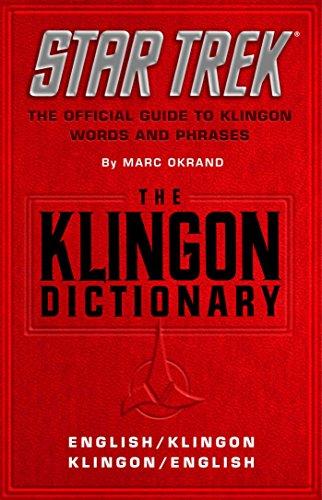 9780671543495: the klingon dictionary: english/klingon, klingon.