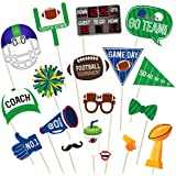 Tinksky スーパーボウルフォトブースアクセサリーフットボールスポーツクリエイティブパーティーデコレーションスーパーボウル日曜用品18個