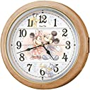 セイコー クロック 掛け時計 ミッキーマウス ミニーマウス 電波 アナログ からくり 6曲 メロディ ミッキー フレンズ Disney Time ディズニータイム 薄茶 マーブル 模様 FW561A SEIKO