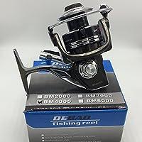 Debao Spinning釣りリールフルメタルフィートスーパーボディbm2000 – 7000シリーズ12 + 1bbガングレー