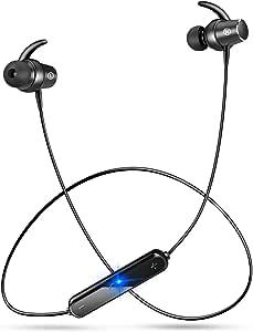 【最新版】 Bluetooth イヤホン スポーツ ワイヤレス イヤホン 高音質 超軽量 apt-Xコーデック採用 7時間連続再生 マグネット ON/OFF機能搭載 IPX5防水 人間工学設計 CVC6.0ノイズキャンセリング ハンズフリー通話 ブルートゥース イヤホン マイク付き iPhone/iPod/Android対応 (ブラック)