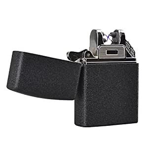 EasyJoy 電子ライター USB 充電式 高級ライター (ブラック/ マット)