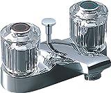 LIXIL(リクシル) INAX 洗面器・手洗器用水栓金具 2ハンドル混合水栓 ポップアップ式 呼び径13mm 吐水口長さ95mm 寒冷地対応 LF-280A-GS-U