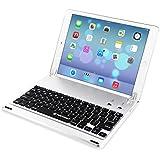 TeckNet X363超薄型Apple iPad Air 2nd Bluetooth キーボードケースカバー内蔵スタンドグルーヴfor Apple iPad Air 2nd  110oまで傾斜可能 -シルバー