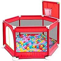 BSNOWF-ベビーサークル Playpens 6Panel、バスケットボールのフープとボールで折り畳まれた赤ちゃんPlay Pen Room Divider Oxford Cloth (サイズ さいず : 200 balls)