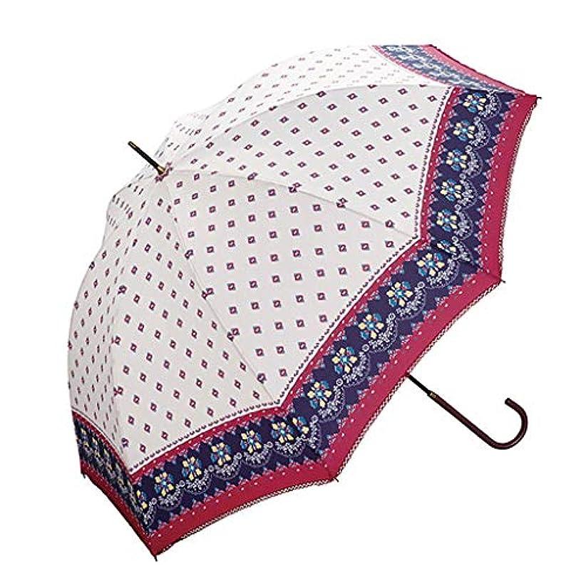 実験膨らませるサスティーンパーソナリティ傘ストライプ花かわいい女性ロングハンドルクリア傘新鮮なデザイン (色 : A)