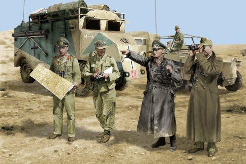 1/35 ロンメル将軍と幕僚 (北アフリカ1942)