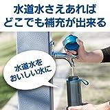 ブリタ 水筒 直飲み 600ml 携帯用 浄水器 ボトル カートリッジ 1個付き フィル&ゴー アクティブ ブルー 【日本仕様・日本正規品】