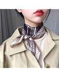 レトロな千鳥格子の小さな正方形のスカーフ女性のシルクスカーフ春と秋の冬のよだれかけスチュワーデススカーフ
