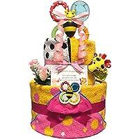 おむつケーキ Sassy サッシー 出産祝い 女の子 2段 3002(出産祝い)