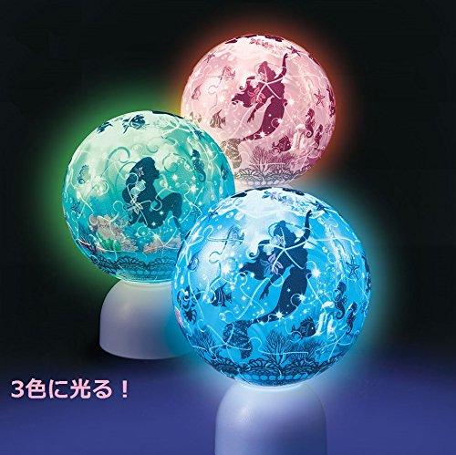 60ピース 光る球体パズル パズランタン シルエット リトル・マーメイド ドリーム・オーシャン