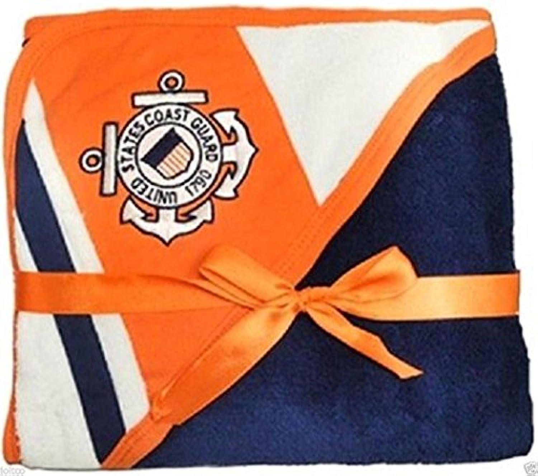 U.S. Coast Guard Licensed Logo Soft Fleece Racing Stripe Baby Blanket (USCG Navy) by United States Coast Guard