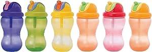 Nuby フリップイット・ボトルII/360 355ml (グリーン・オレンジ・パープル・レッド・イエローのうち1色。色はおまかせ。)