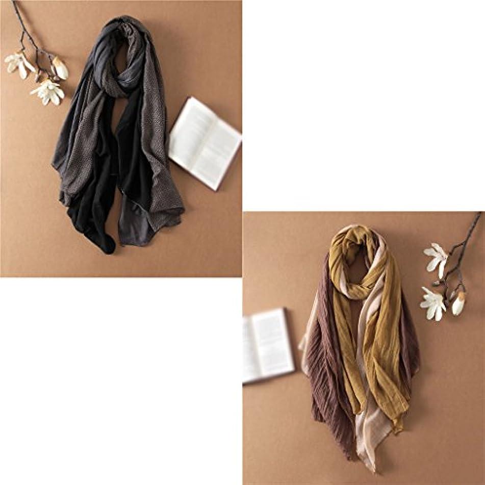 くそースタイルパーセントGAODUZI 綿のスカーフ冬の長い段落のリネンのスカーフ秋と冬の呪文カラーステッチの厚いスカーフ女性のショール ( 色 : K k )