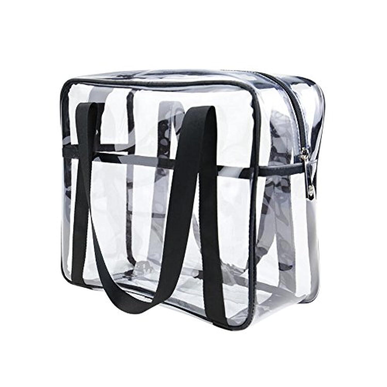 ONEGenug クリアトイレタリーバッグ大容量 化粧ポーチ 防水 旅行用おむつトートバッグ。ビジネス、学校、スポーツゲームとコンサートなどに最適です。NFLとPGAのトーナメントガイドラインに適合