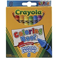 Bulk Buy : Crayola Coloring Book Large Washable crayons-8 / Pkg ( 6パック)