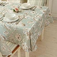 テーブルクロス シンプルな大きな花ストライプダイニングテーブルクロスのコーヒーテーブルクロス (Color : A, Size : 130x130cm)