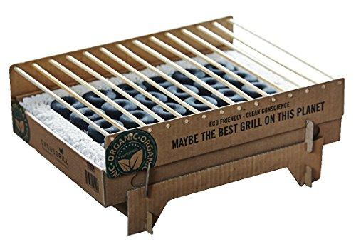 CASUS GRILL カサスグリル クラフトグリル 使い捨て可能 コンパクトなグリル BBQ グリル 使い捨てバーベキューセット BBQ キャンプ アウトドア 重量約1kg