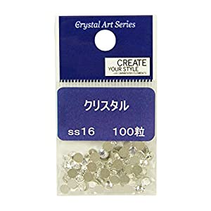 林ケミカル Crystal Art クリスタルアート スワロフスキー・エレメント フラットバック #2088 100粒 クリスタル SS16