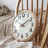 掛け時計 モダンウッド 壁掛け時計 おしゃれ 掛時計 北欧 時計 インテリア ハンドメイド 木製掛け時計
