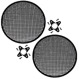 """Universal 15 Inch (15"""") Subwoofer Speaker Metal Waffle Cover Guard Grill Pack of 2 (Pair)"""