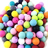 500pc 12mm Silicone Beads Loose Teething Chew Jewelry Teething Necklace Teether Toy DIY Supplies by LOVEBABY