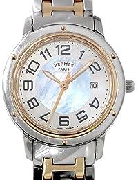 エルメス HERMES クリッパーナクレ CP1 321 新型 レディース 腕時計 コンビ PG ピンクゴールド シェル ウォッチ 【中古】 90046579 [並行輸入品]