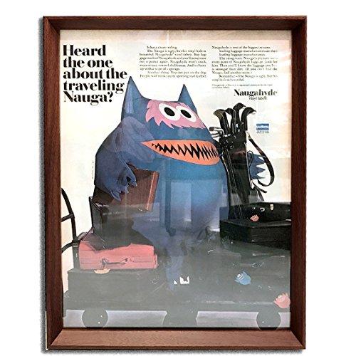 ナウガハイド ナウガモンスター 品番03 1960年代 ビンテージ広告 ポスター アートフレーム 額付 イームズ ハーマンミラー ノール