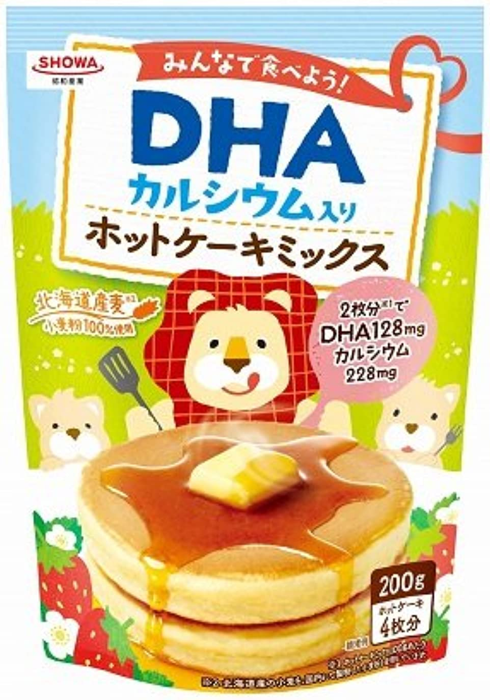 小川目立つループ昭和(SHOWA) DHAホットケーキミックス 200g【4個セット】