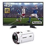 パナソニック 43V型 液晶 テレビ VIERA TH-43EX600 + デジタル4Kビデオカメラ VZX990M セット