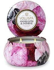 Voluspa ボルスパ メゾンジャルダン 2-WICK ティンキャンドル アマランス&ジャスミン MAISON JARDIN Wick Tin Candle AMARANTH & JASMINE
