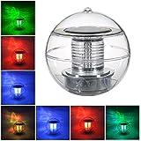 フローティング LED 水中ライト 庭やプールで使えるボール型ソーラーライト 防水 太陽光発電ランプ 自動的に色変更 「Pichidr」