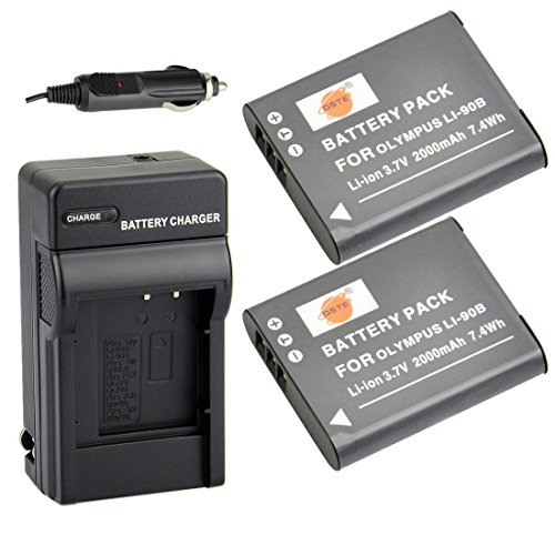 DSTER アクセサリーキット Olympus LI-90B LI-92B 互換 カメラ バッテリー 2個+充電器キット対応機種 Tough SP-100 TG-1 TG-2 TG-3 TG-4 XZ-2