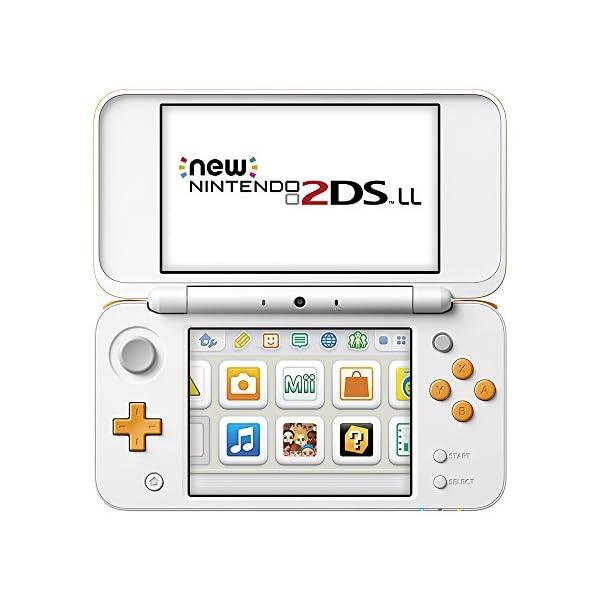 Newニンテンドー2DS LL ホワイト×オレンジの商品画像