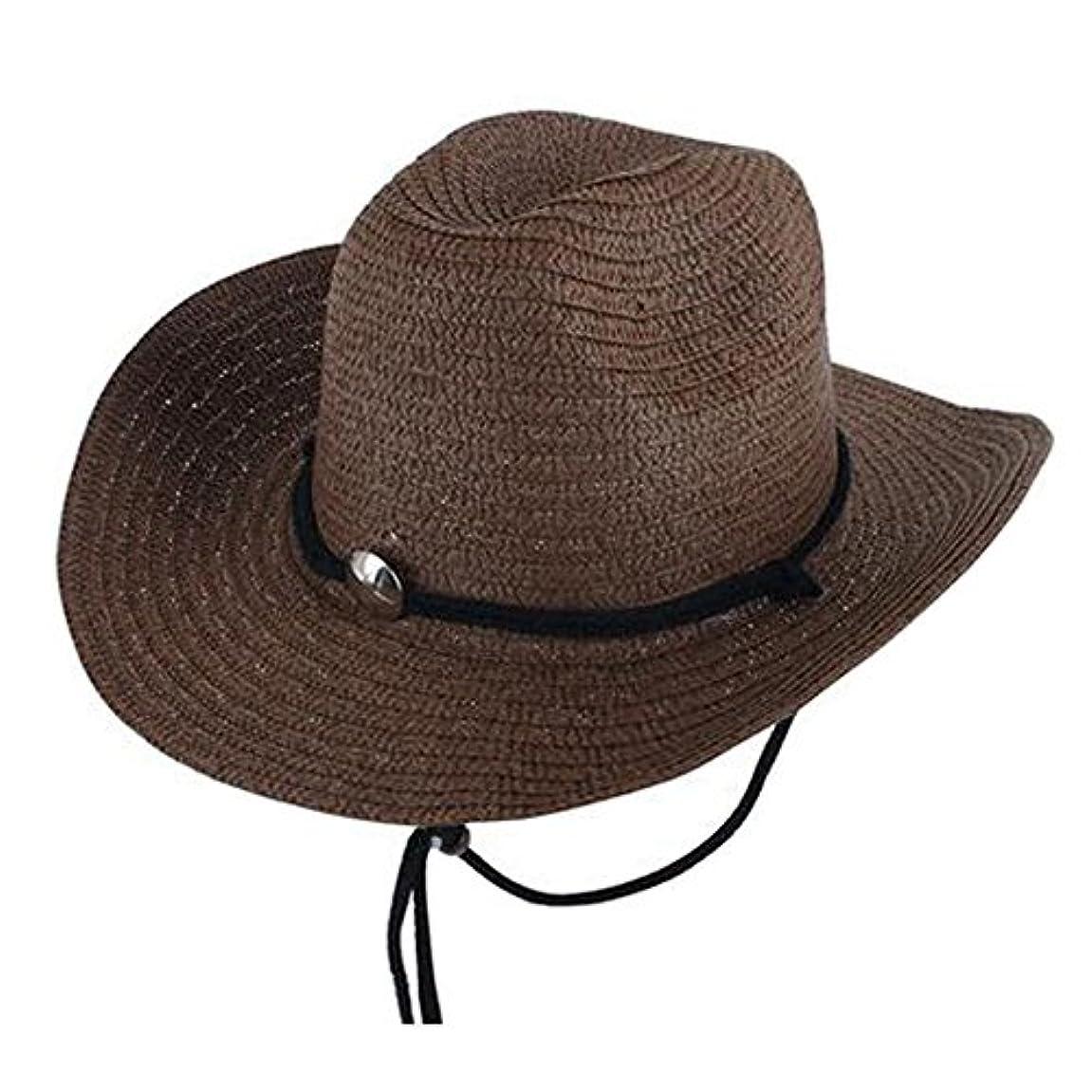 スリム中断報奨金スタイリッシュなメンズアウトドアフィッシング帽子メンズサマービーチハット、コーヒー