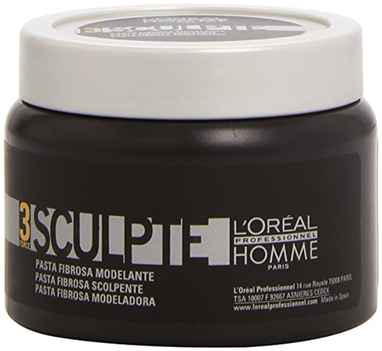 性能移民帳面Homme by L'Oreal Professional Sculpte - Sculpting Fibre Paste Force 3 150ml