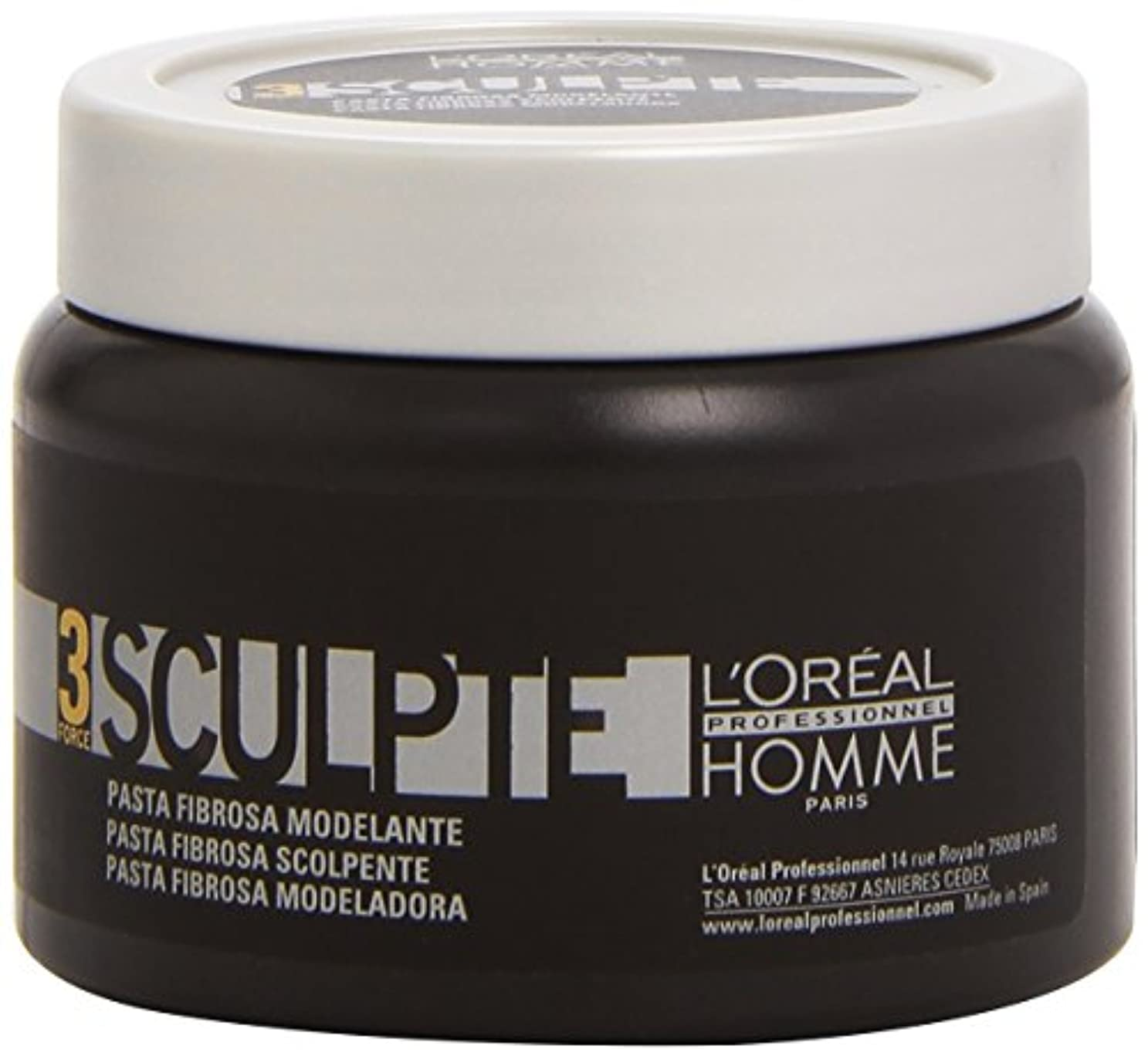 応用紳士用語集Homme by L'Oreal Professional Sculpte - Sculpting Fibre Paste Force 3 150ml