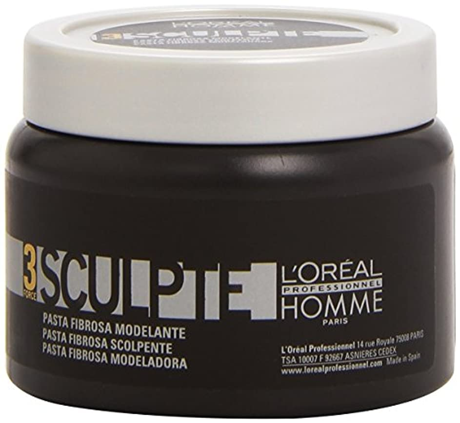 オゾン端回転させるHomme by L'Oreal Professional Sculpte - Sculpting Fibre Paste Force 3 150ml