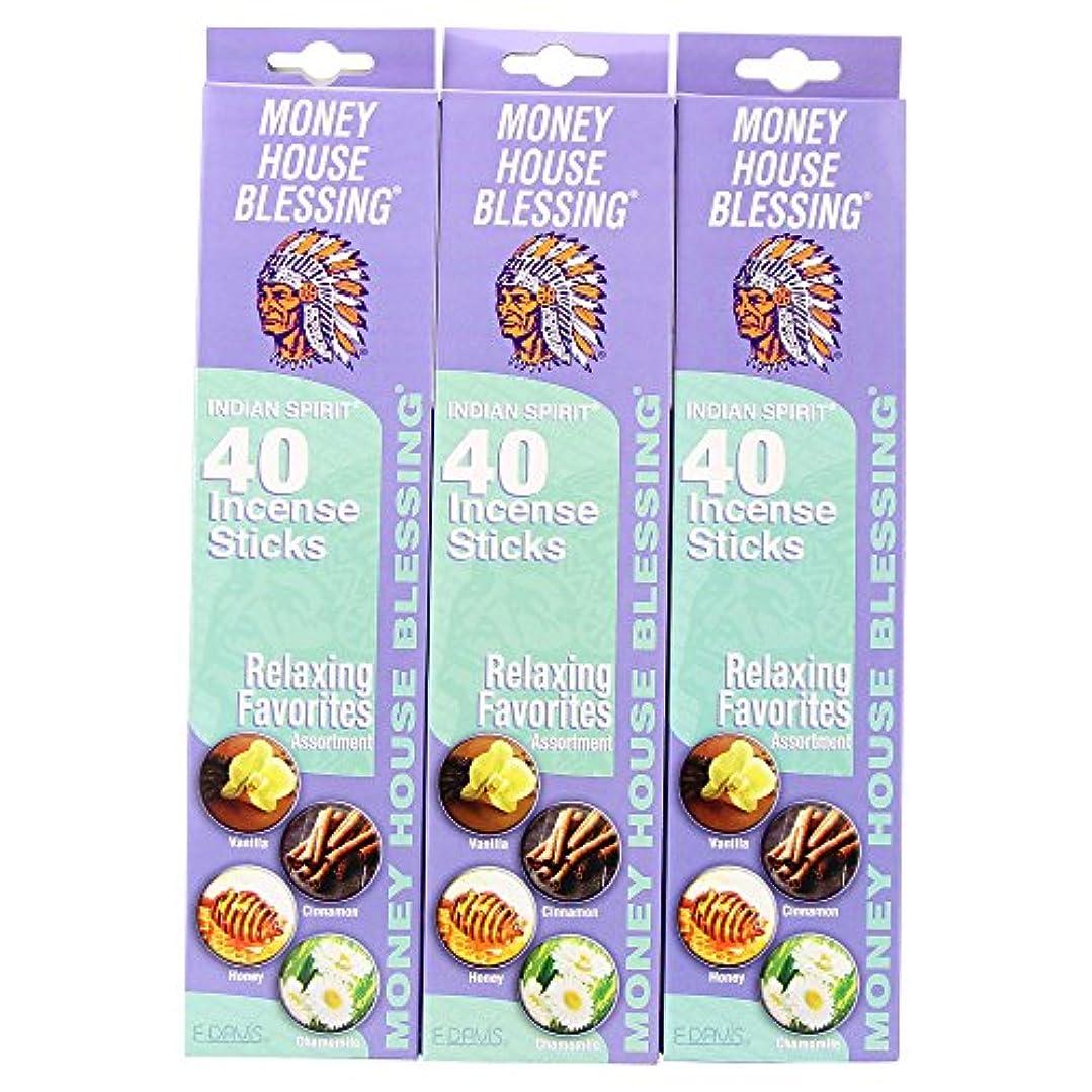 部分的に規制交流するMoney House Blessing自然Incense Sticks (パックof 40 Sticks) (3パック)
