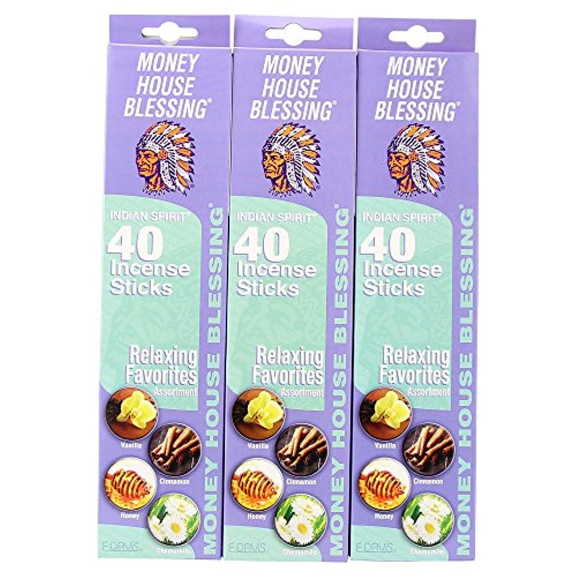 こねる不条理お風呂を持っているMoney House Blessing自然Incense Sticks (パックof 40 Sticks) (3パック)
