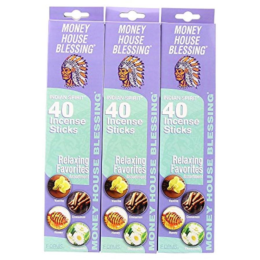 速度番号参照するMoney House Blessing自然Incense Sticks (パックof 40 Sticks) (3パック)