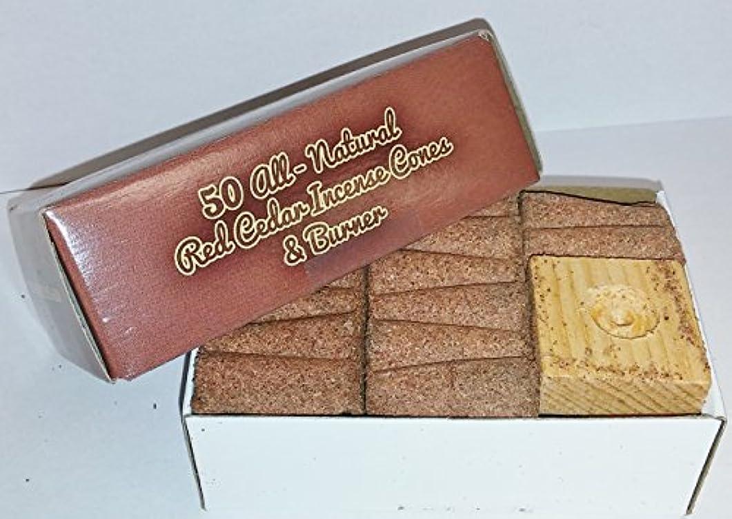 無線解釈的農村Incense & Burner Comes w/50 Red Cedar Cones Paineの木製ホルダーLodgeスタイル