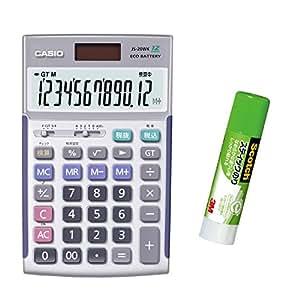 カシオ 本格実務電卓 JS-TK20 特典付きセット 検算・税計算 ジャストタイプ 12桁
