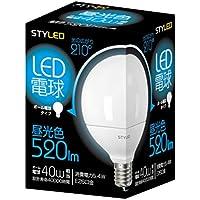 スタイルド LED電球(昼光色相当・ボール電球40W相当) 口金直径26mm ボール電球タイプ G95 5.4W 520lm LDG40D1