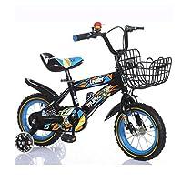 HAIZHEN マウンテンバイク キッズバイク男の子用自転車サイクリング自転車、12インチ、16インチ、95%組み立て、子供用ギフト 新生児 (色 : Black+Blue, サイズ さいず : 12 inch)